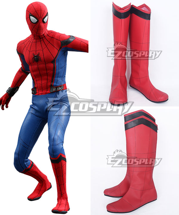 Marvel Spider-Man:Homecoming Spider-man  Spiden Man Superhero Peter Parker Halloween Red Shoes Cosplay Boots None