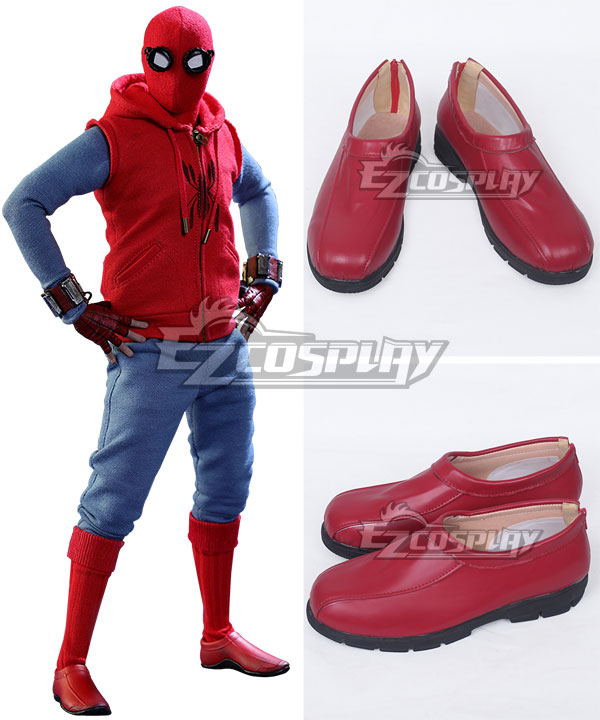Marvel Spider-Man:Homecoming Spider-man Superhero Peter Parker Halloween Red Cosplay Shoes None