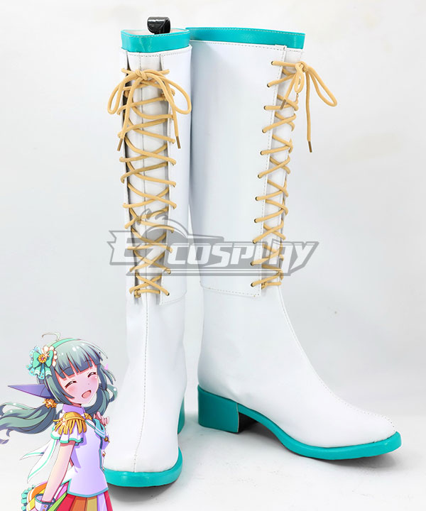 Battle Girl High School Sadone White Shoes Cosplay Boots None