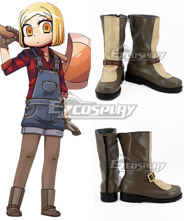 Fate Grand Order Paul Bunyan Brown Shoes Cosplay Boots