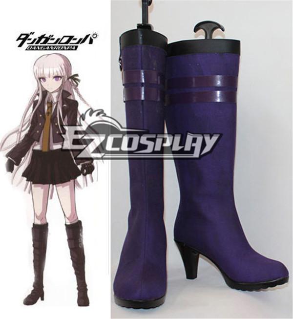 Dangan Ronpa Kyoko Kirigiri Purple Cosplay Boots COSS0065