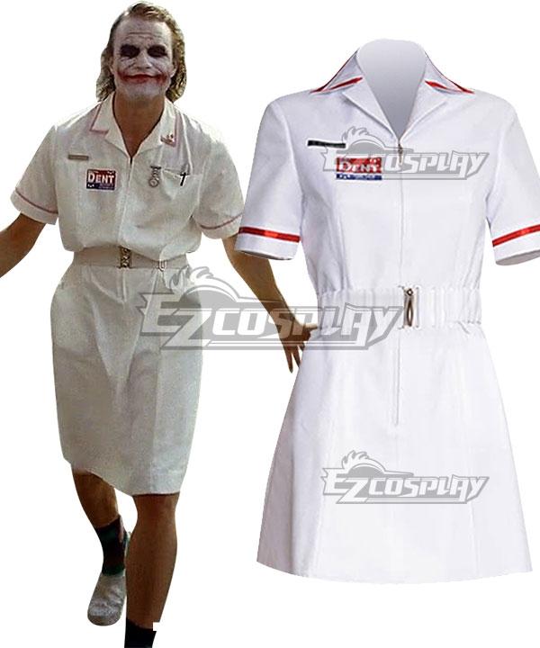 DC Batman The Dark Knight Joker Nurse Cosplay Costume - No Wig EDCG189