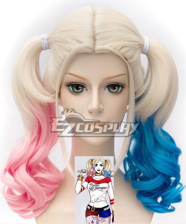 DC Comics New Batman Suicide Squad Harley Quinn Cosplay Wig