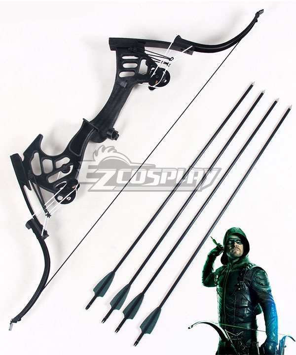 DC Comics The Arrow Season 5 Green Arrow Oliver Queen Bow and arrow Cosplay Weapon Prop