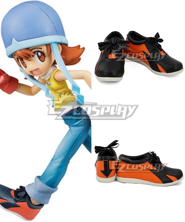 Digimon Adventure Digital Monster Torai Sora Takenouchi Sora Orange Black Cosplay Shoes
