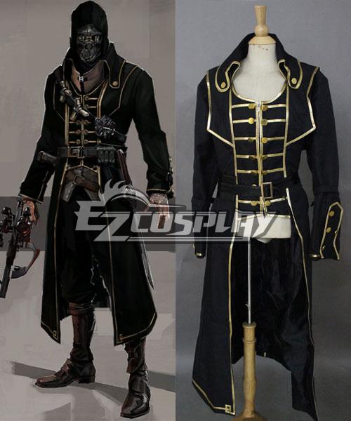 Dishonored Corvo Black Coat Cosplay Costume