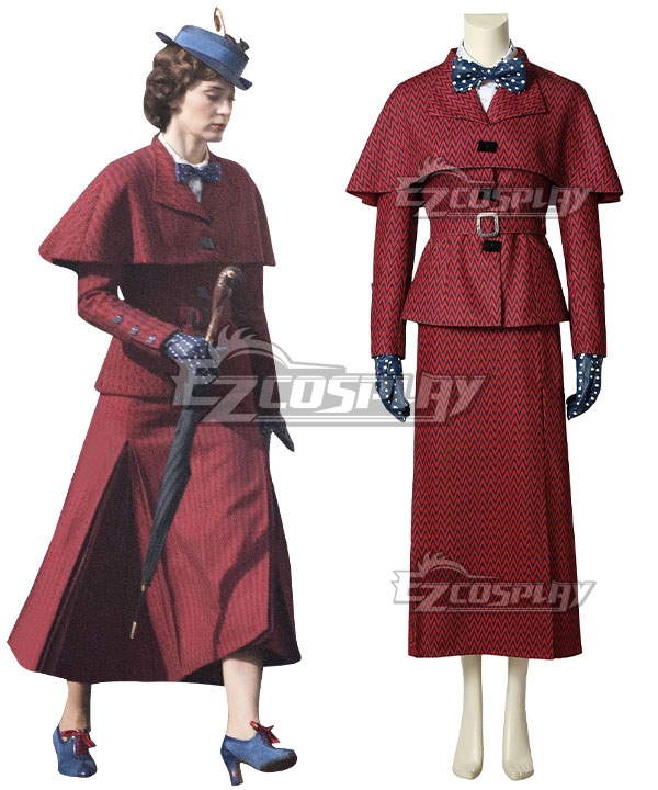 1930s Style Coats, Jackets | Art Deco Outerwear Disney Mary Poppins Cosplay Costume $187.99 AT vintagedancer.com