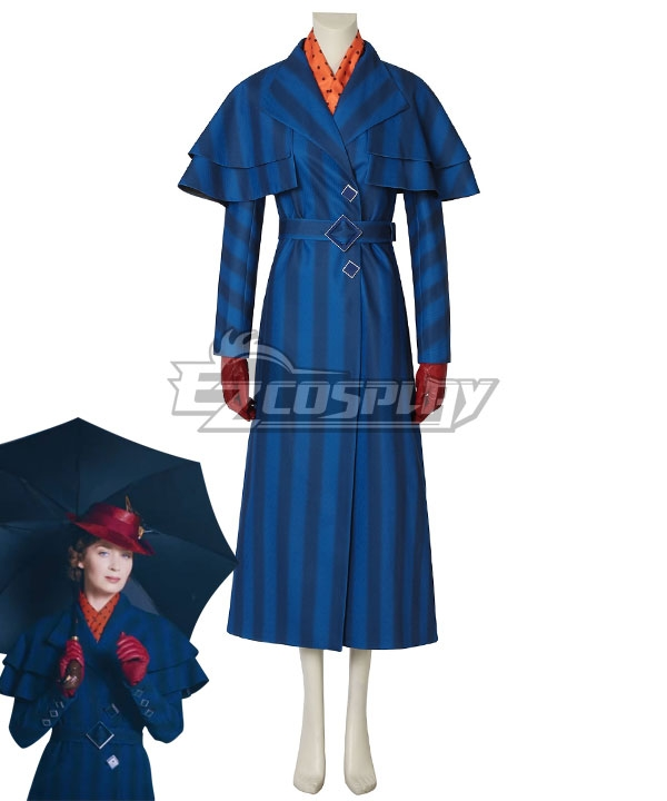 1930s Style Coats, Jackets | Art Deco Outerwear Disney Mary Poppins Cosplay Costume - A Edition $164.99 AT vintagedancer.com