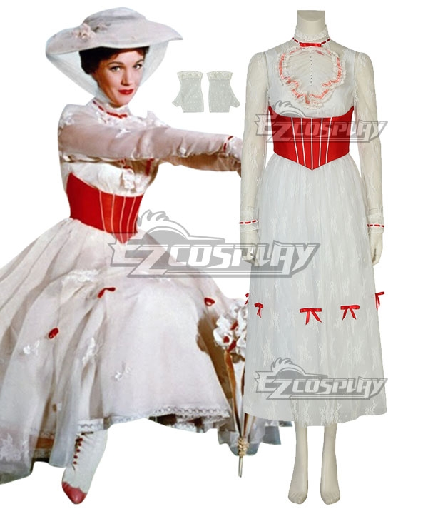 Vintage Tea Dresses, Floral Tea Dresses, Tea Length Dresses Disney Mary Poppins Cosplay Costume - C Edition $105.99 AT vintagedancer.com