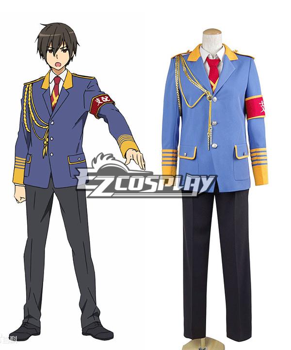 Amagi Brilliant Park Amagi Buririanto Paku Domination Seiya Kanie Cosplay Costume (Coat + Tie + Armband)