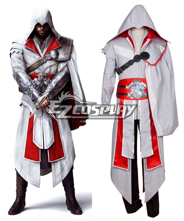 Assassin's Creed III Brotherhood Ezio Halloween Cosplay Costume