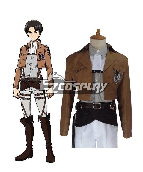 Attack on Titan Shingeki no Kyojin Advancing Giants Levi Ackerman Rivai Akkaman Special Operations Squad Leader Survey Corps Cosplay Costume None