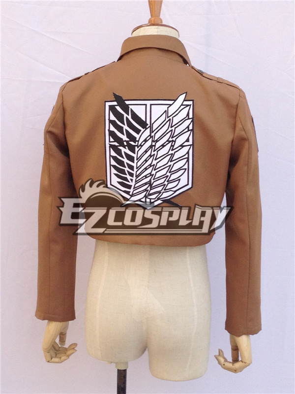 Attack on Titan Shingeki no Kyojin Scout Regiment Survey Corps Erwin Smith Black White Cosplay Costume (Only Jacket) None