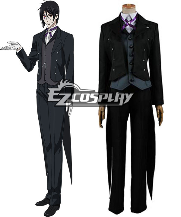 Black Butler Book of Circus Sebastian Michaelis Cosplay Costume None