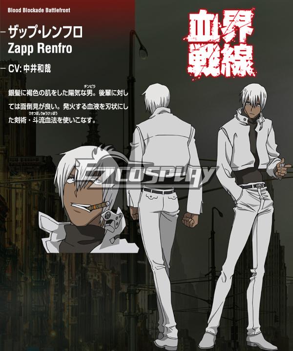 Blood Blockade Battlefront Zapp Renfro Cosplay Costume (Only Jacket)
