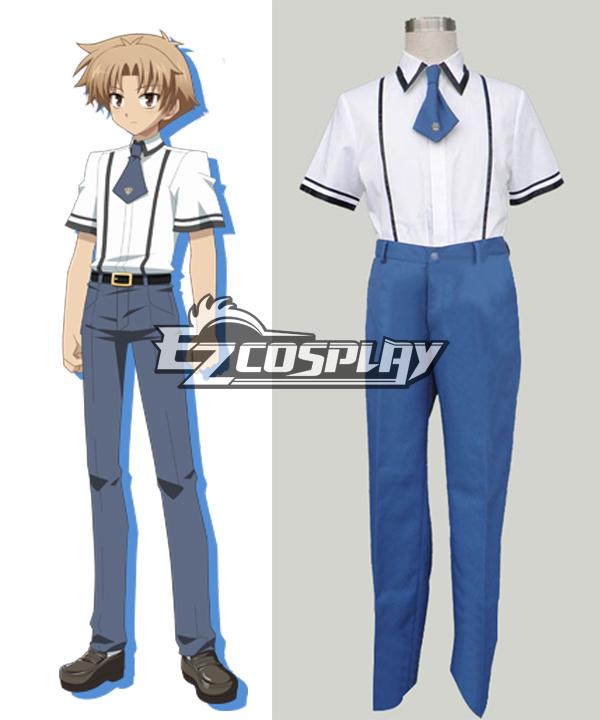 Baka to Test to Boys' Summer School Uniform Cosplay Costume None