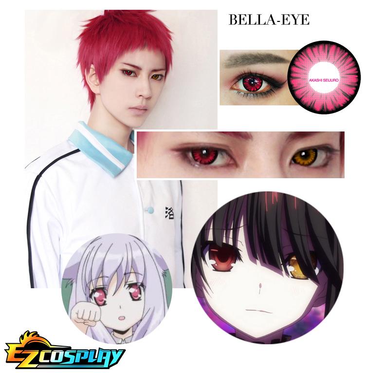Bella Eye Generation of Miracles Kuroko's Basketball Seijuro Akashi Mei Red Cosplay Contact Lense