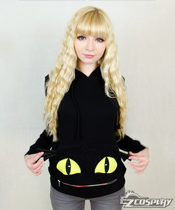 Blace Toothless Hoodie - How to Train Your Dragon 2 Cosplay Costume None