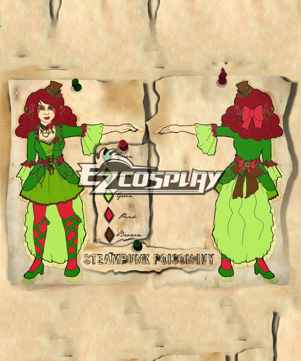 Poison Ivy from Batman Comics Cosplay Costume None
