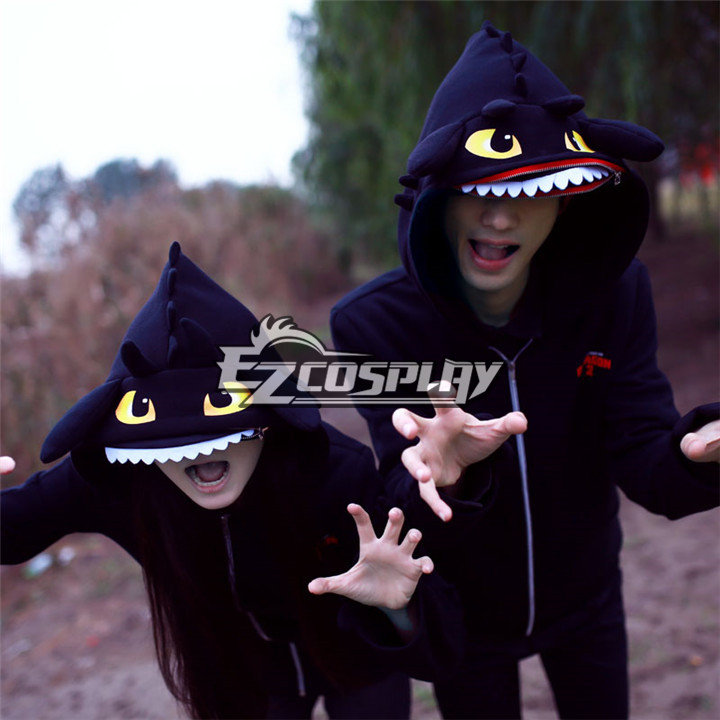How to Train Your Dragon Toothless Night Fury Cosplay Hoodie