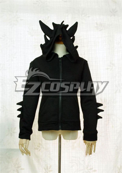 How to Train Your Dragon 2 Night Fury Toothless Cosplay Hoodie None