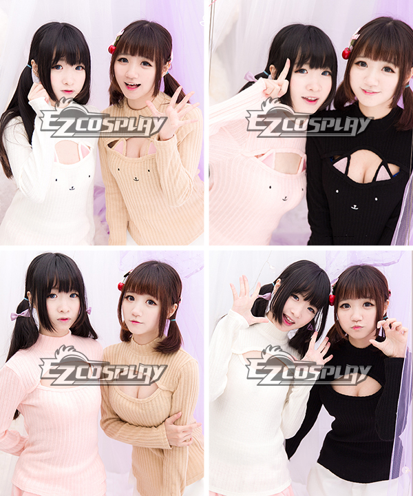 Cat Cute Sexy Long Sleeve Loose Knitwear Pullover Cosplay Costume