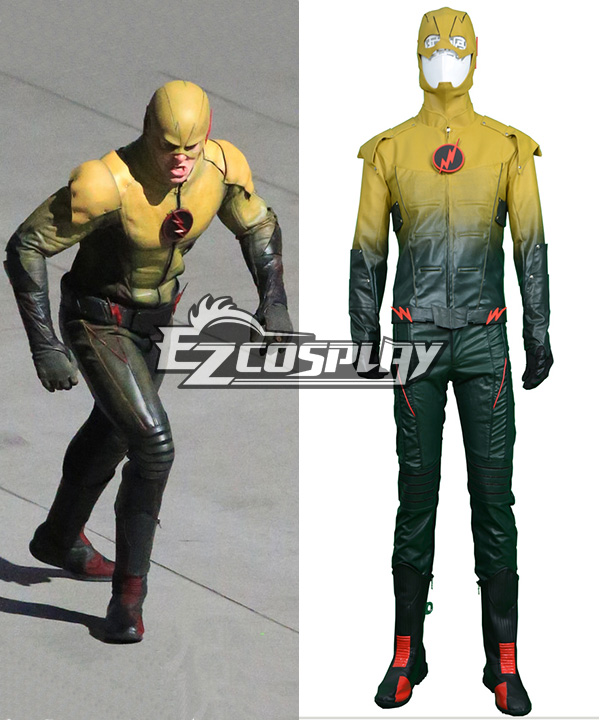 DC Comics The Flash Eobard Thawne Reverse Battleframe Cosplay Costume