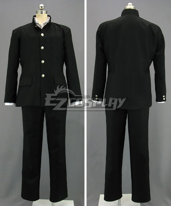 Japanese Boy Formal School Uniform Black Cosplay Costume
