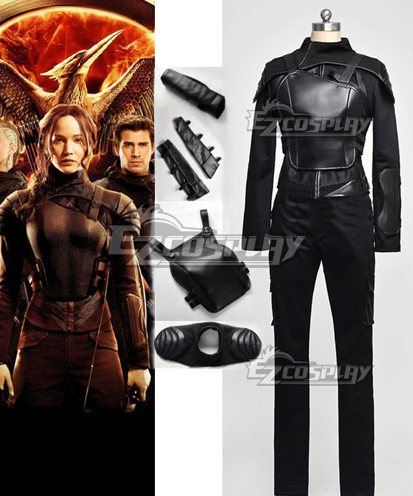 The Hunger Games Mockingjay Part 1 Katniss Everdeen Cosplay Costume Black Version None