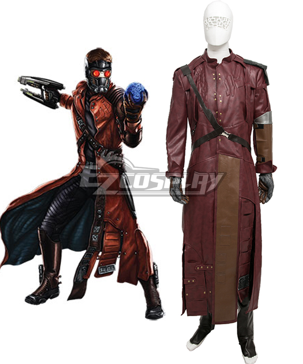 Marvel Guardians of the Galaxy Peter Quill Star Lord Cosplay Costume - Without shoes cover ECM0383