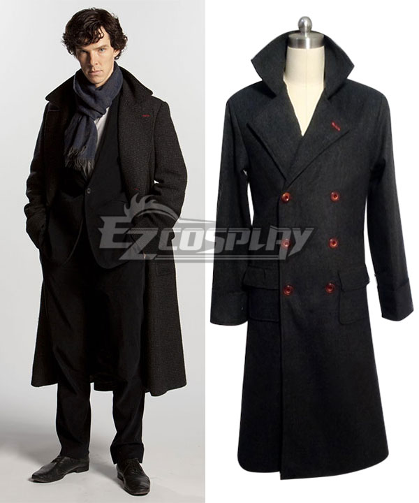 Sherlock The Abominable Bride Sherlock Holmes Cape Coat Cosplay Costume None