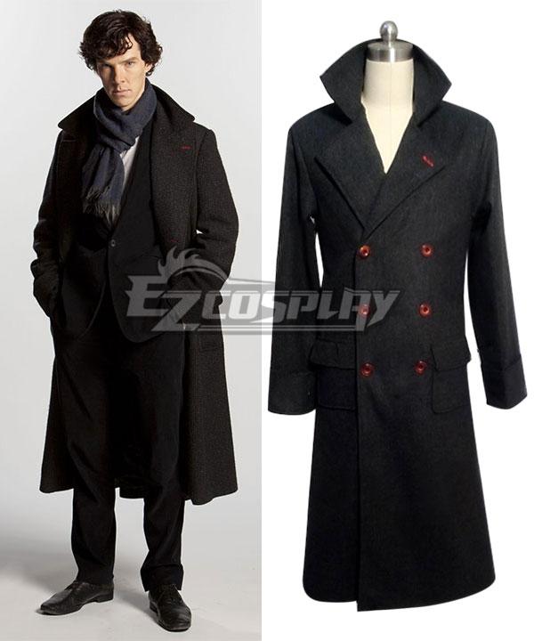 Sherlock The Abominable Bride Sherlock Holmes Cape Coat Cosplay Costume ECM0250