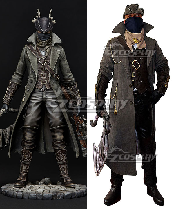 Bloodborne Hunter Cosplay Costume - Including Boots ECM0255