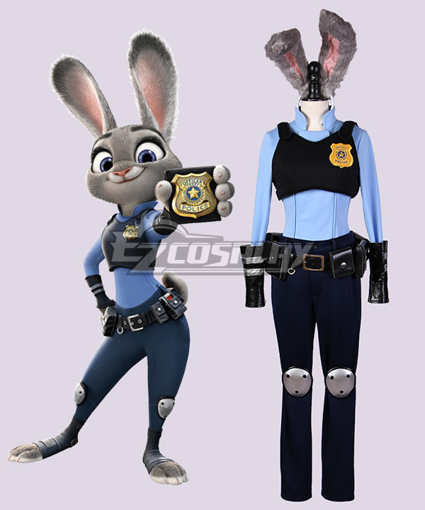Disney Zootopia Officer Judy Hopps Personify Cosplay Costume None