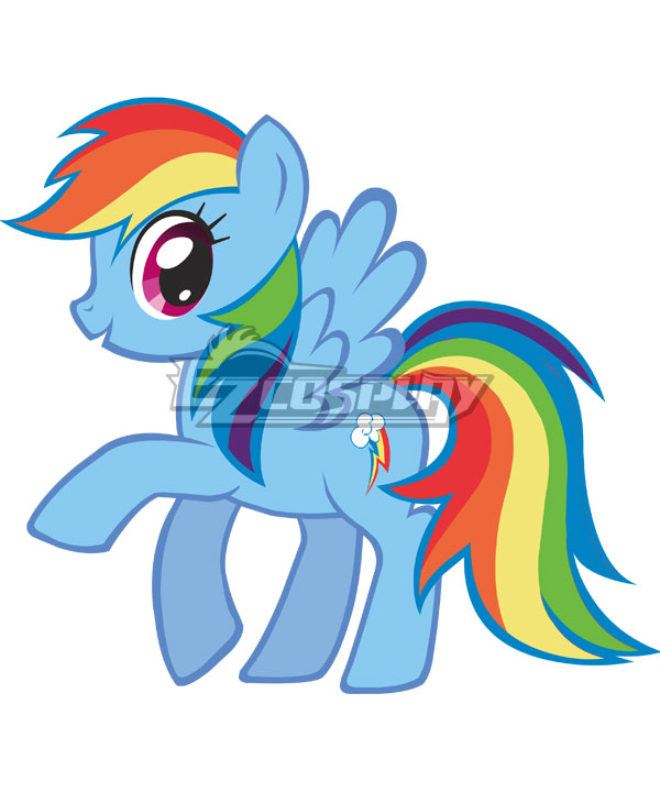 My Little Pony Friendship is Magic Rainbow Dash Cosplay Costume None