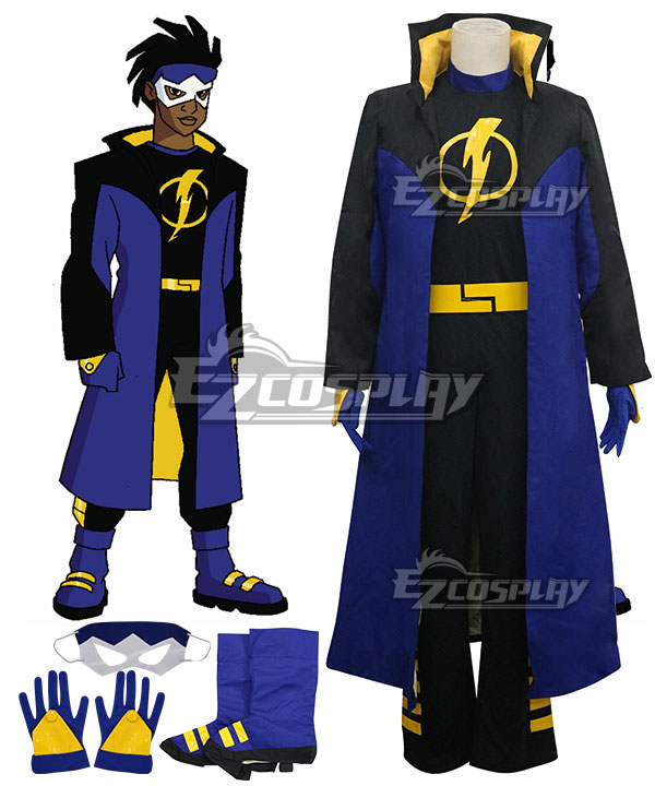 ECM0321 DC Comics Static Shock Virgil Ovid Hawkins Cosplay Costume