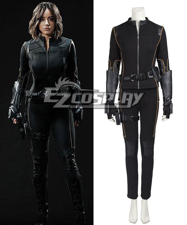 Agents of S.H.I.E.L.D. Skye Quake Cosplay Costume - including boots ECM0346