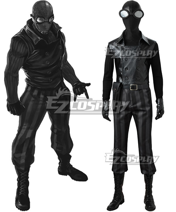 Spider-Man Noir Spider Man Noir Cosplay Costume ECM0547