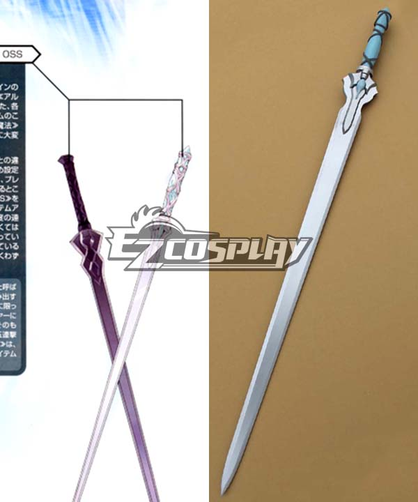 Sword Art Online (ALfheim Online) Notre Dame Chant Articles SAO Yuuki Asuna Erika Fine Sword Flashing Light A Cosplay Weapon None