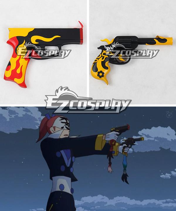 Katanagatari Souda uemon Saemon Ento Ju Flame Sword Gun Cosplay Weapon