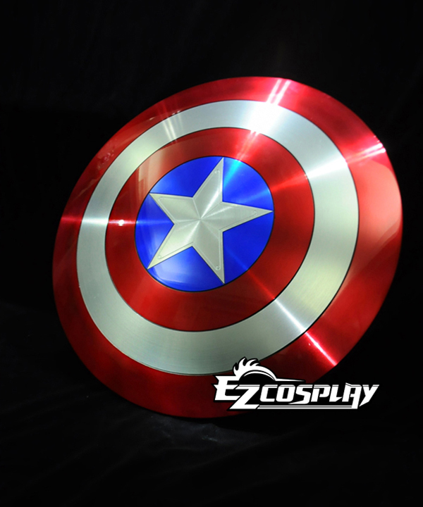 Image of Captain America 2 Steven Steve Rogers Aerospace Aluminum Metal Shield 1:1 Collection Cosplay Accessories