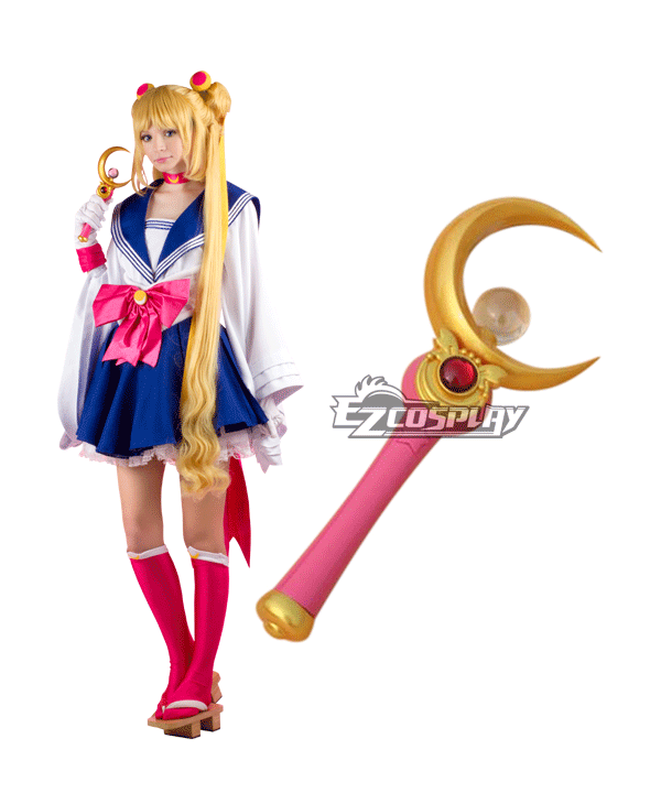 Sailor Moon Tsukino Usagi Princess Serenity JK School Uniforms kimono Anime Style Magic Wand Cosplay Accessory ECW0315