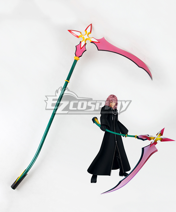 Kingdom Hearts 2 Organization XIII Graceful Assassin Marluxia No.11 Sickle Cosplay Weapon Prop