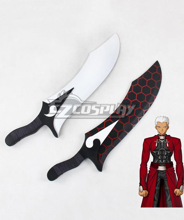 Fate Stay Night Emiya Shirou Archer Sword Cosplay Weapon Prop