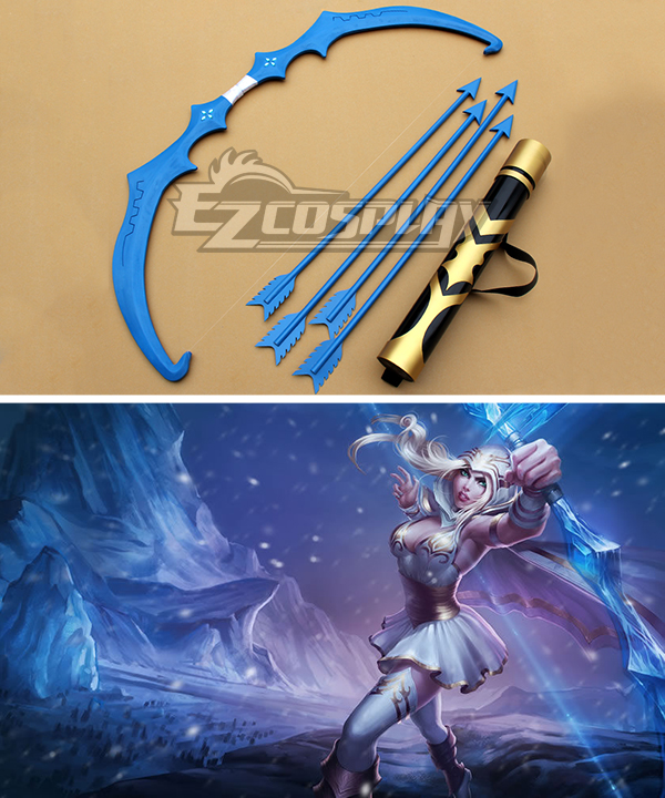 League of Legends Freljord Ashe The Frost Archer Bow and arrow Cosplay Weapon Prop