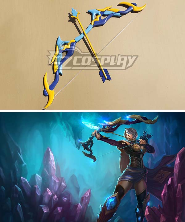 League of Legends Amethyst Ashe The Frost Archer Bow and arrow Cosplay Weapon Prop