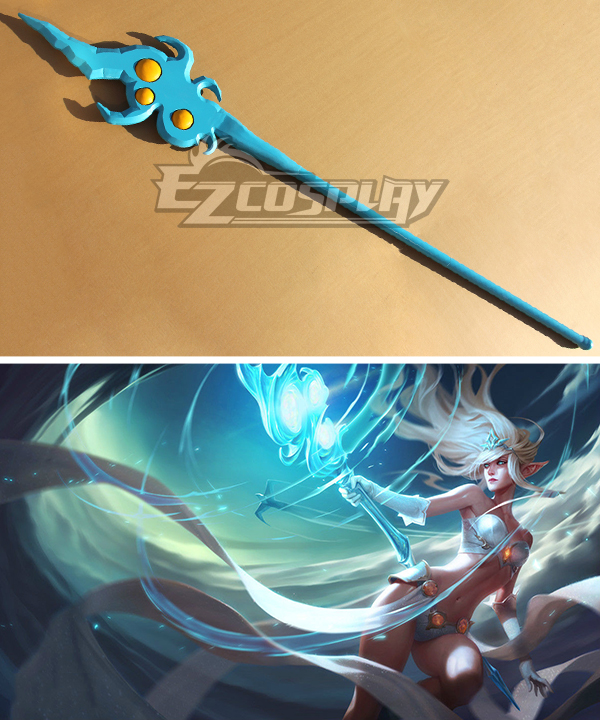 League of Legends Classic Janna The Storm's Fury Staves Cosplay Weapon Prop