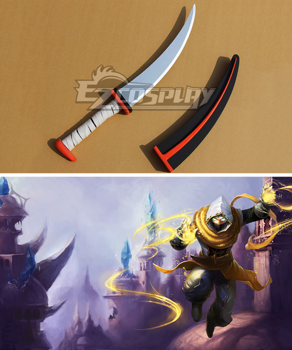 League of Legends Shadow Prince Malzahar The Prophet Of The Void Dagger Cosplay Weapon Prop