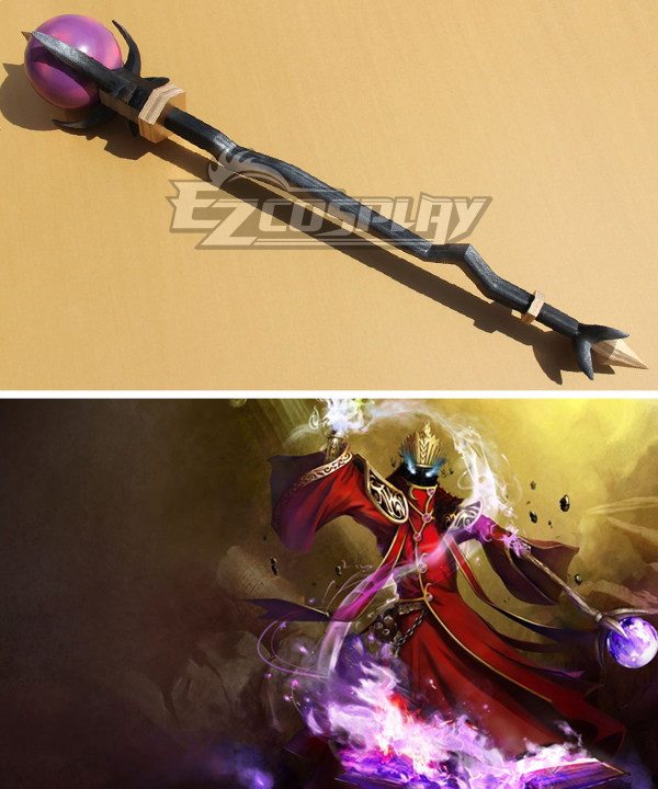 League of Legends Phantom Karthus The Deathsinger Staves Purple Cosplay Weapon Prop