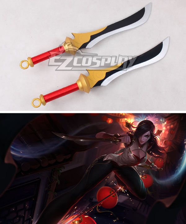 League of Legends Sandstorm Katarina The Sinister Blade Dagger Cosplay Weapon Prop
